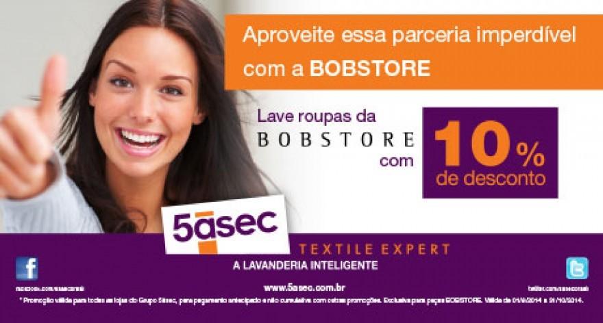Blog 5àsec - Levar roupas da Bobstore na 5àsec rende desconto