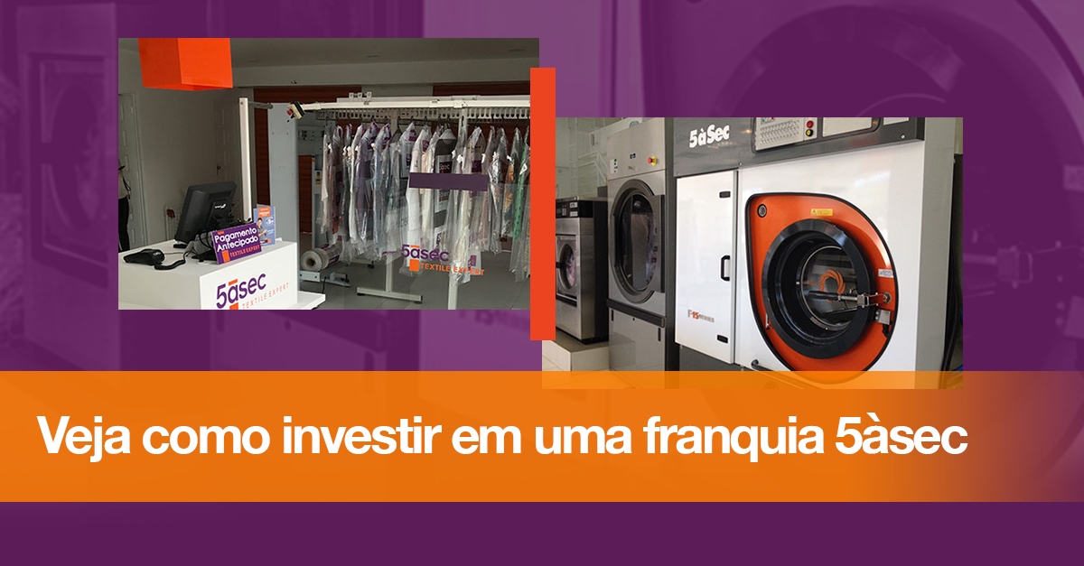Blog 5àsec - Veja como investir em uma franquia 5àsec