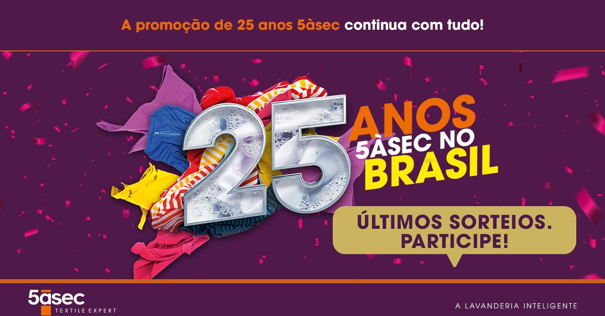 Blog 5àsec - A promoção de 25 anos 5àsec continua com tudo!